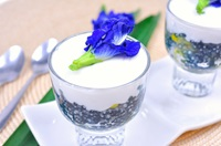 ตะโก้สาคูอัญชัน&nbspThai&nbspPudding&nbspwith&nbspCoconut&nbspTopping